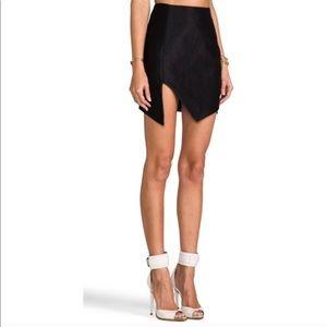 Finders Keepers last call black asymmetrical skirt